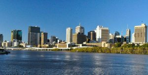The river from a kayaker's perspective - what better way to enjoy one a Brisbane attraction