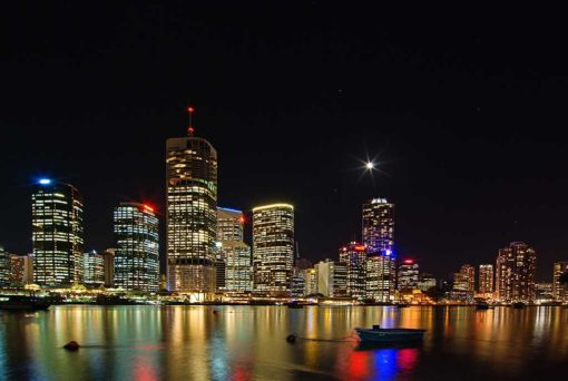 Brisbane River and City Lights