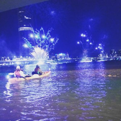 Kayak Fun Fireworks