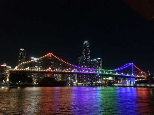 The Storey Bridge in full colour at night