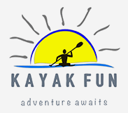 Kayak Fun Logo Grey Background